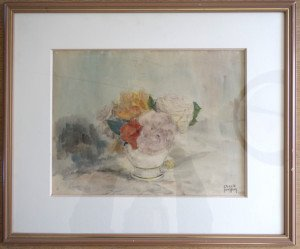 aquarelle et crayon format 29x39 sur 49x59