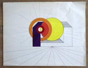 préparation sur papier dessin format 65x50