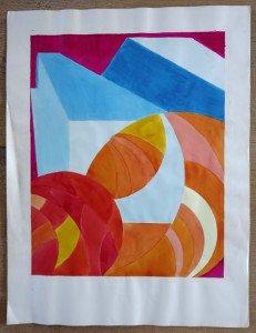 sur papier dessin - sans titre - format 50x40 sur 65x50