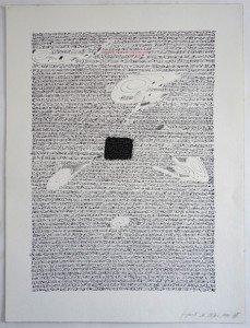 2 - encre de chine etacrylique sur papier Arches 300 gr - 61x46 - Fragment du 28 juin 1992