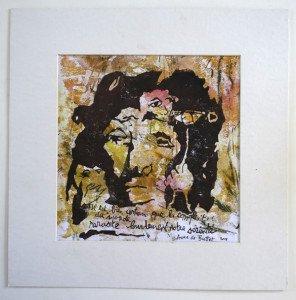 acrylique sur papier dessin format 24x24 sur 35.5x35.5