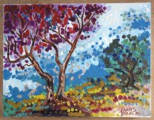 acrylique sur toile de lin   format 50x65