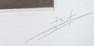 détail signature (brun)