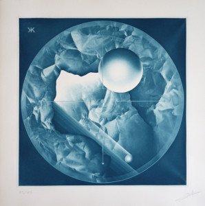 Gravure héliographique 1985 Pierre Brochet - (Bleu) - 55 sur 85 ex