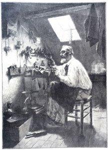 DANS UN GRENIER d'après Victor Guétin (1872 - 1916)