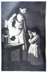 DANS UNE MANSARDE d'après Elisabeth Nourse (1859 -1938)