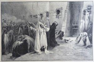 DERNIERS DES ADIEUX DES CONSCRITS, A LOUQSOR d'après G. Clairin (1843 - 1919)