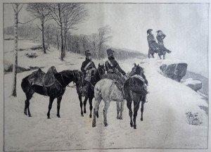 EN RECONNAISSANCE d'après Jean-Louis-Ernest Meissonier (1815 - 1891)