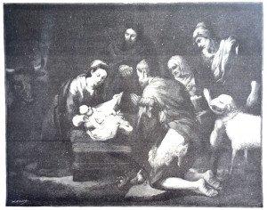 L'ADORATION DES BERGERS d'après Bartolomé Esteban Murillo (1617 - 1682)