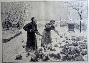 LE CHASSEUR IMPROVISE d'après Jules Denneulin (1835 - 1904)