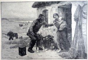 LE FOYER d'après Virginie Demont-Breton (1859 - 1935)