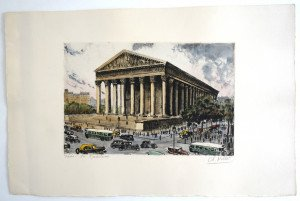 Paris La Madeleine - format 33x50 bassin 19.5x30