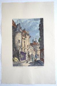 Paris Rue Hautefeuille - format 50x33 bassin 29.5x19.5