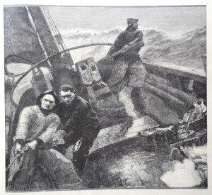 PENDANT LES DERNIERES TEMPËTES d'après Eugène Lawrence Vail dit Eugène Vail (1857 - 1934)