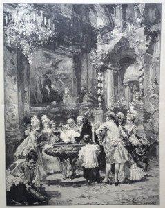 UN BAPTEME EN ESPAGNE d'après Vicente DE PAREDES (1845-1903)