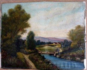 sur toile de lin - format 52x64