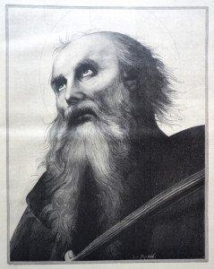 Fragment tableau de l'Ascension d'après Le Pérugin (1448 - 1523)