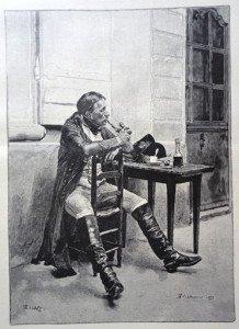 LE FUMEUR d'après Jean-Louis-Ernest Meissonier (1815 - 1891)