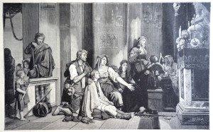 L'ENFANT MALADE d'après Jean-Victor Schnetz (1787 - 1870)
