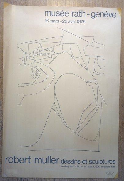 sérigraphie affiche robert muller - format 94x64