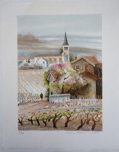 Sur Arches - Chenas en Beaujolais - format 38x28 sur 48x38