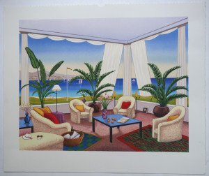 Brise tropicale - sur Arches format 47x 56