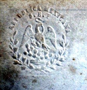 détail timbre à sec haut gauche du dessin