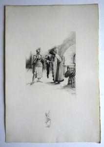 L. O.M filigranne La Jaquerie format 26.5x18