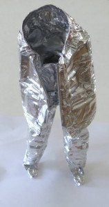 personnage barquette alu recyclée hauteur 23 cm