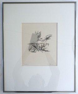 sérigraphie titrée -chartreuse 1 -  sur papier format 26x22 sur 55x44