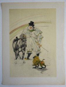 Cheval et Singe robes format 32 x 24