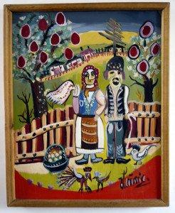 GHuile sur toile fine - Tica - format 47x38