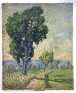 sur toile lin vers 1926 format 46x38