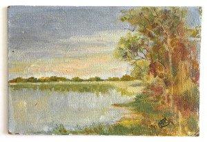 sur bois - Les dombes - format 16x24