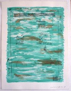1 acrylique et encre de chine sur papier Arches 300 gr - 61x46 - Fragment du 4 juillet 1992