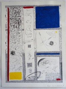2 acrylique et encre de chine sur papier Arches 300 gr - 61x46 - Cosmogonie fragment du 14 juillet 1992