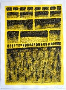 4 acrylique et encre de chine sur papier Arches 300 gr - 61x46 - Fragment du 31 juillet 1992