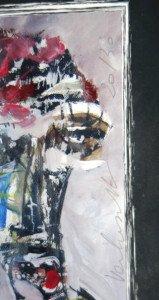 détail signature crayon et tirage