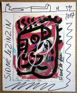 sur carton et papier - Sidné le zinzin - format 42x35