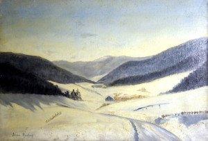 sur toile - Environs de Villars de Lans - format 38x55