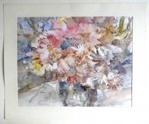 1988 aquarelle sur papier dessin lisse - format 32x39 sur 38x46 - daté 1988
