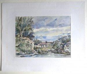 1989 aquarelle sur papier dessin - format 24x31 sur 38x46 - daté 1989