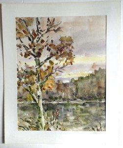 1989 aquarelle sur papier dessin - format 41x32 sur 46x38 - daté 1989