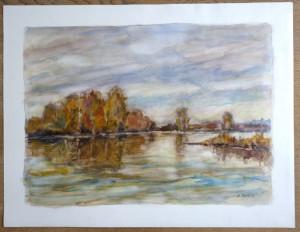 2011 aquarelle sans titre signé daté 24 12 2011 - format 50x65