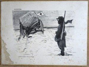 Lithographie 203 sur 300 - La Croix Rouge - format 38x52
