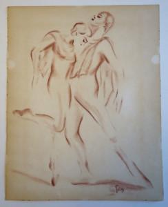 sanguine sur papier dessin lisse format 30x24 signé