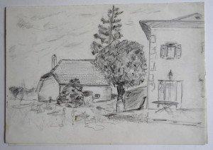 crayon sur double feuille dessin format 21x 29.7
