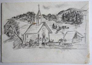 crayon sur double feuille dessin format 21x29.7
