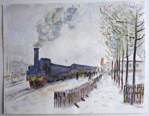 étude non signée format 24x30.5 (tableau Claude Monet)