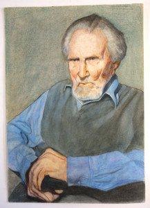 Ezra sur papier aquarelle format 42x30